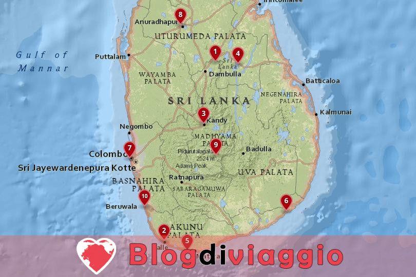 10 Luoghi da visitare in Sri Lanka