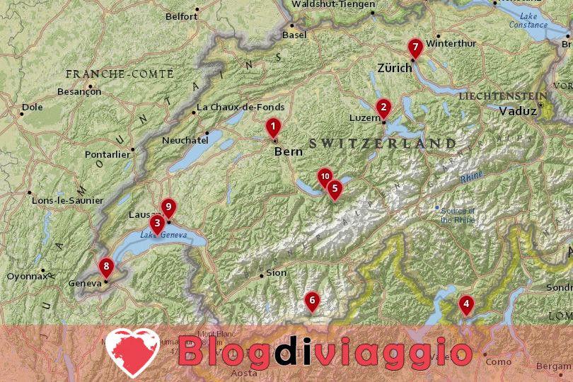 10 I migliori luoghi da visitare in Svizzera