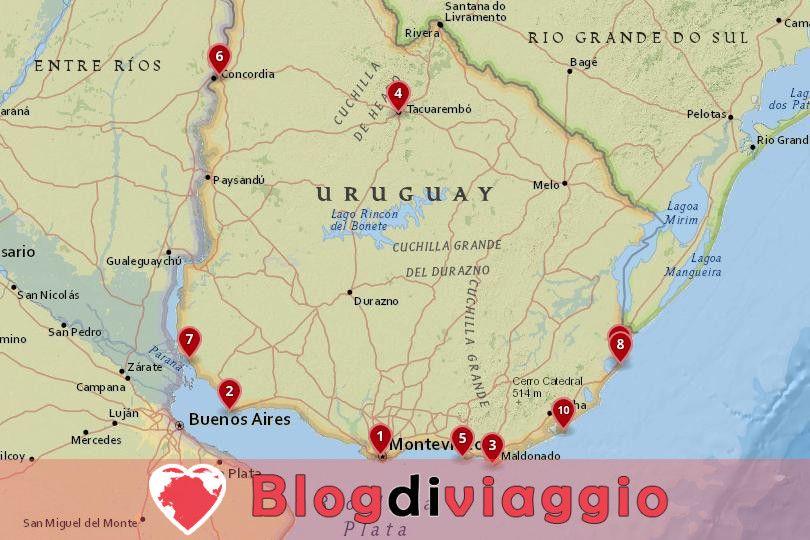 10 Luoghi da visitare in Uruguay