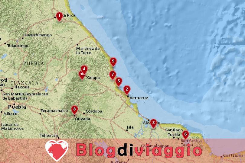 10 Luoghi da visitare a Veracruz, Messico