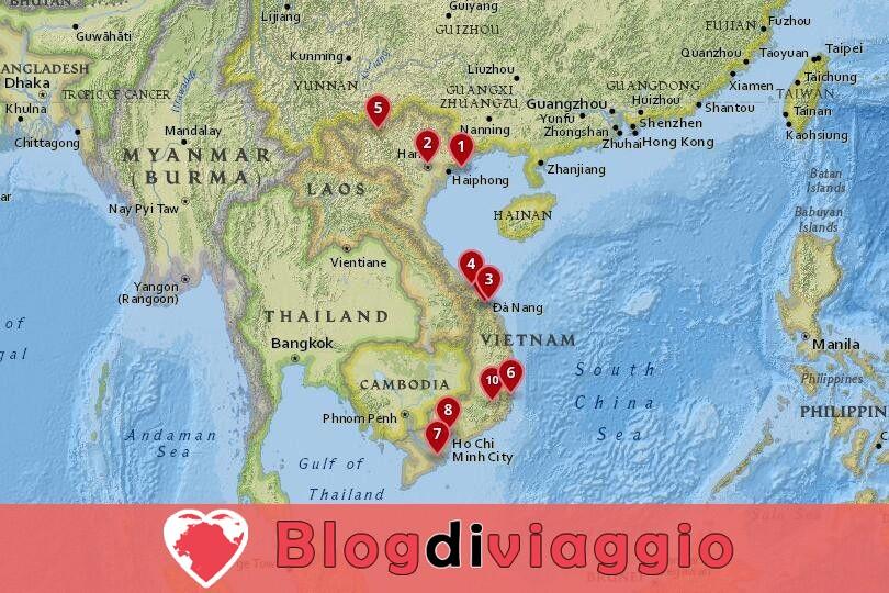 12 Luoghi da visitare in Vietnam
